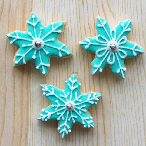 Snowflakes Green Pack of 3
