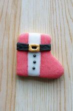 Santa's Pink Boot with Buttons
