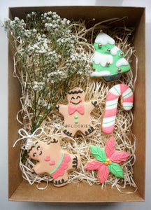 Christmas Box Gingerbread Couple