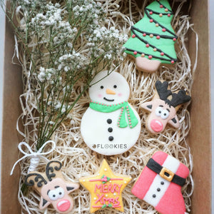 Christmas Box Snowman & Deers