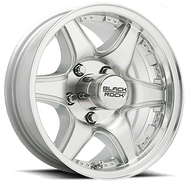 "15"" CrossTrax Trailer Wheels-Machined with Silver Accents with Clear Coat"