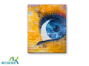 I See You by Annette Back - 24x30-Original Oil on Canvas-annettebackart