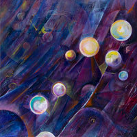 Space by Annette Back - 24x24-Original Oil on Canvas-annettebackart