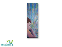 Slumber by Annette Back - 8x24-Original Oil on Canvas-annettebackart