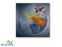 Dancers by Annette Back - 30x30-Original Oil on Canvas-annettebackart