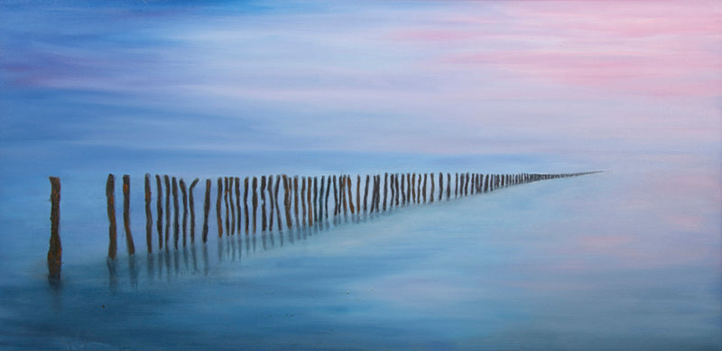 Infinity by Annette Back - 48x24-Original Oil on Canvas-annettebackart