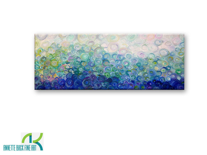 The Wave - 44x16 - Annette Back Fine Art-Original Oil on Canvas-annettebackart
