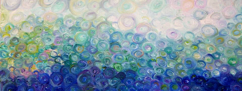 The Wave by Annette Back- 44x16-Original Oil on Canvas-annettebackart
