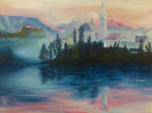 Bled Island by Annette Back - 40x30