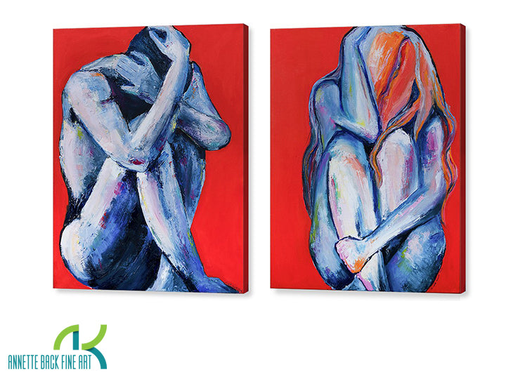 Deux-Pair - Gallery Wrap-Canvas Wraps-annettebackart