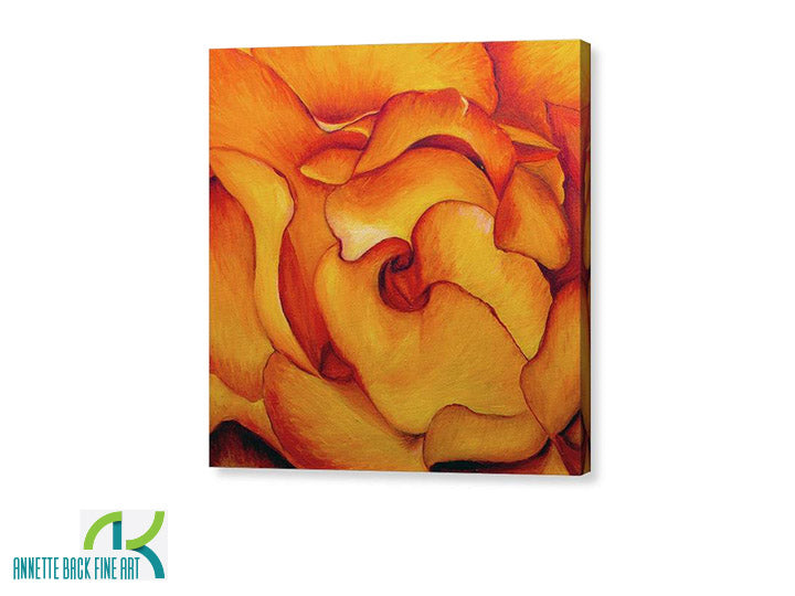 Fire & Rose - Gallery Wrap-Canvas Wraps-annettebackart