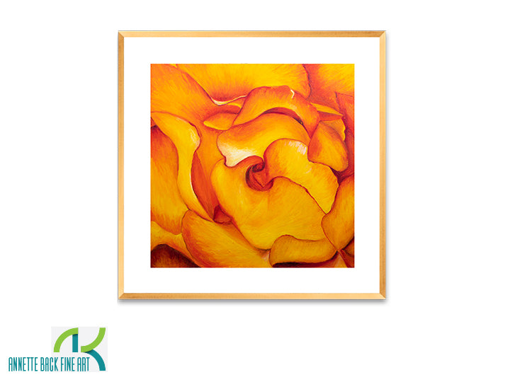 Fire And Rose - Framed Print-Framed Print-annettebackart