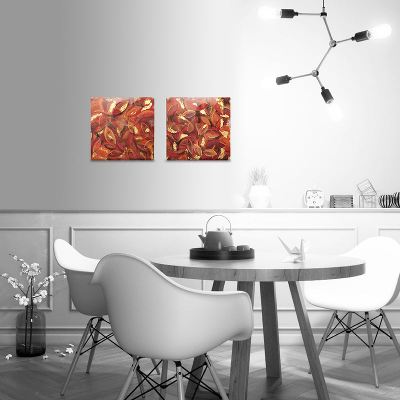 Leaves - Limited Edition/ Hand Embellished/ Gallery Wrap-Canvas Print-annettebackart