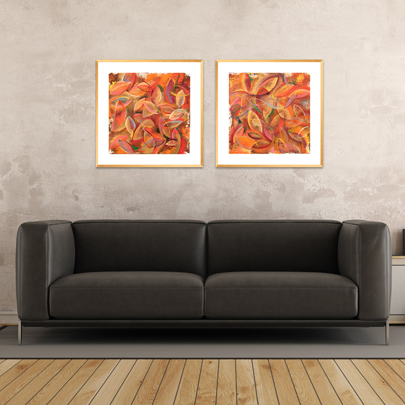 Leaves - Framed Print by Annette Back, 16x16/set of 2-Framed Print-annettebackart