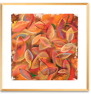 Leaves - Framed Print by Annette Back, 16x16/set of 2