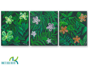 In Bloom - Limited Edition/ Hand Embellished/ Gallery Wrap-Canvas Wraps-annettebackart