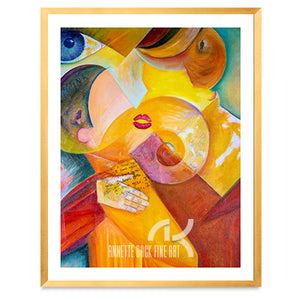 The Kiss - Framed Print, 11x14-Framed Print-annettebackart