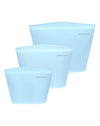 Silicone Zip Lock Bags in Cashmere Blue
