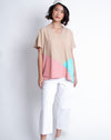 Maiko Top Beige Pink Mint