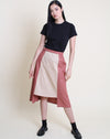 Natsuko Skirt Khaki Brown