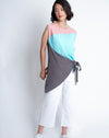 Yumi Top Grey Mint Pink