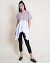Yuna Top Beige White