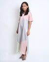 Farah Dress Silver Green Pink