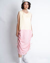 Akiko Dress Yellow Pink