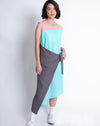 Reiko Dress Grey Mint Pink