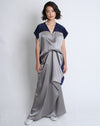 Layla Dress Navy Grey