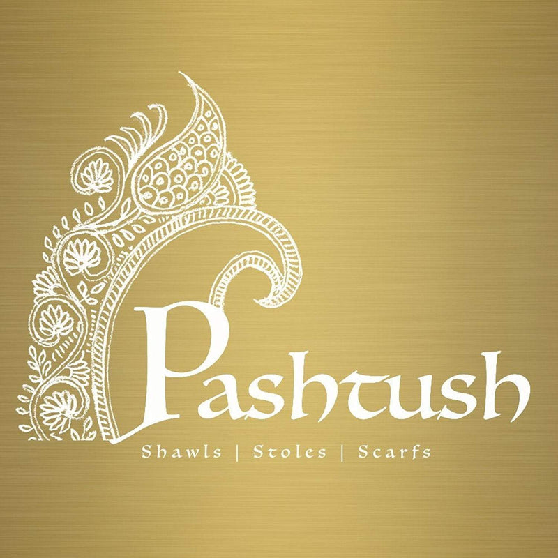 Pashtush India Rich Black Mens Fine Wool Jacquard Scarf - Rich Black