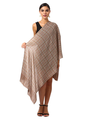Pashtush Shawl Store Scarf Cashmere Wool Blended Muffler (cocoa)