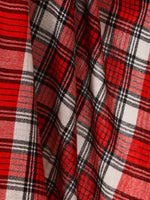 Pashtush Shawl Store Scarf Cashmere Wool Blended Muffler - English Red Plaid