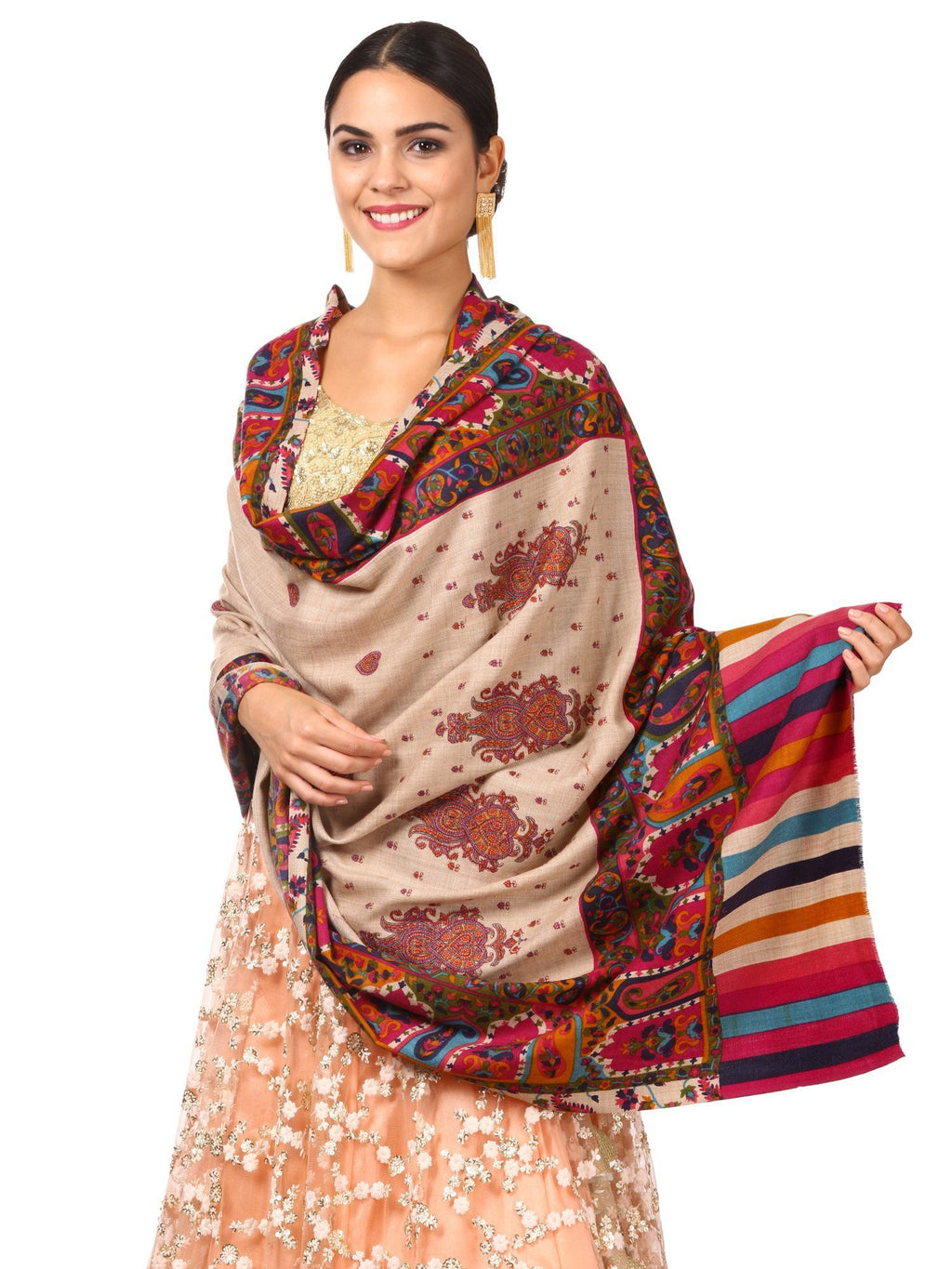 Pashtush Shawl Store Shawl Womens Kalamkari Shawl, Wedding Collection, Thick and Warm