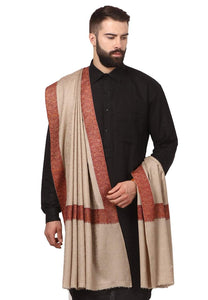 Pashtush Store shawl Mens Kashmiri Daur Embroidery Shawl - Medium Size