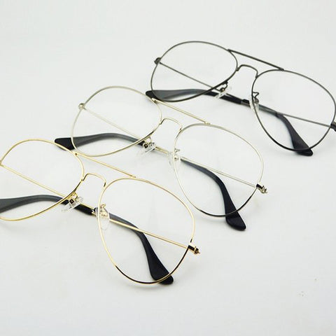 WIDE FRAME EYEGLASSES