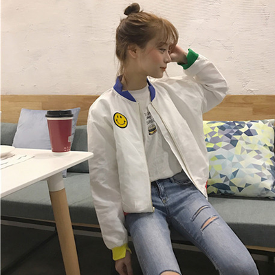 SMILEY JACKET IN WHITE