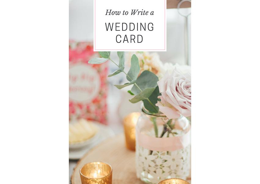 How to Write a Wedding Card