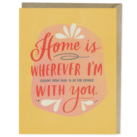 home is whenever i'm with you card