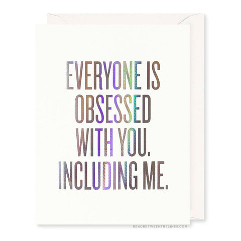 obsessed greeting card