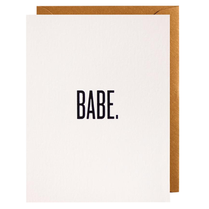 Babe pale pink greeting card