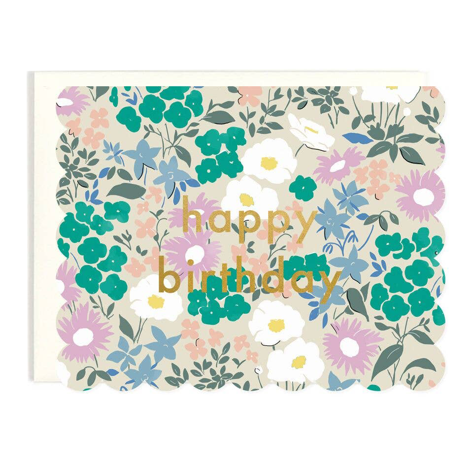 Scalloped Floral Birthday