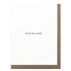 fuck the world greeting card