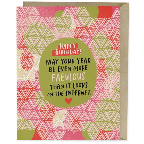 fabulous happy birthday card