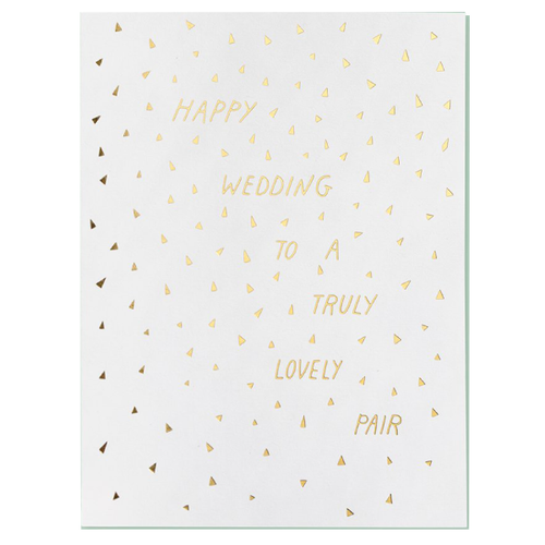 happy wedding to a lovely pair card