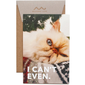 i can't even greeting card