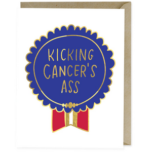 kicking cancers ass sympathy card