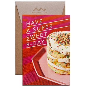 super sweet birthday card