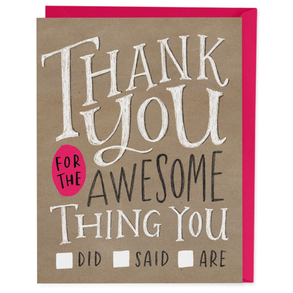 thank you for being awesome card