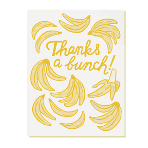 thanks a bunch card with bananas